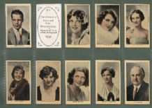 Tobacco cigarette cards Movie Film Stars 1930 VERY RARE